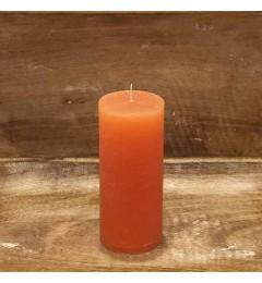 Rustična sveća valjak 5,5x12 cm Narandžasta - 1 kom
