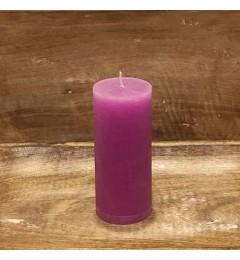Rustična sveća valjak 5,5x12 cm Pink - 1 kom