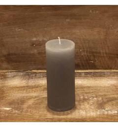 Rustična sveća valjak 5,5x12 cm Siva - 1 kom