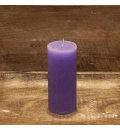 Rustična sveća valjak 5,5x12 cm Svetlo Ljubičasta - 1 kom