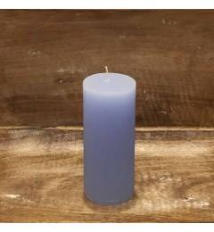 Rustična sveća valjak 5,5x12 cm Svetlo plava - 1 kom