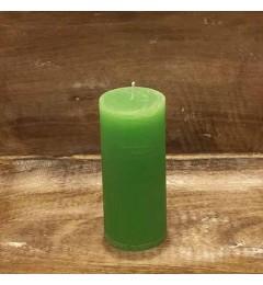 Rustična sveća valjak 5,5x12 cm Svetlo zelena - 1 kom