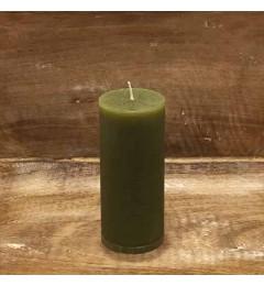 Rustična sveća valjak 5,5x12 cm Zelena - 1 kom