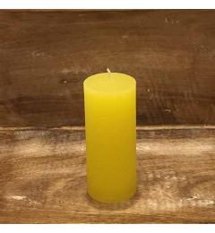 Rustična sveća valjak 5,5x12 cm Žuta - 1 kom