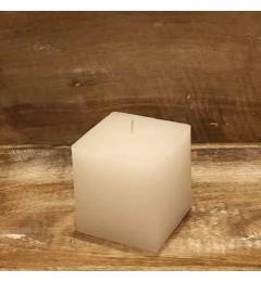 Rustična sveća kocka 7x7 cm Bela - 1 kom