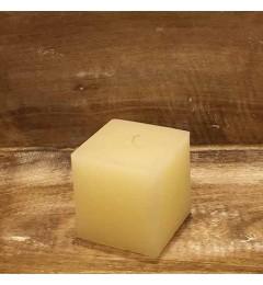 Rustična sveća kocka 7x7 cm Krem - 1 kom