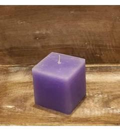Rustična sveća kocka 7x7 cm Svetlo Ljubičasta - 1 kom