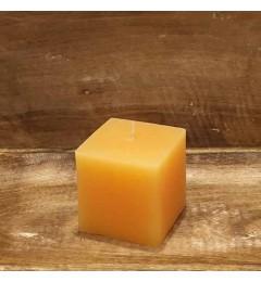 Rustična sveća kocka 7x7 cm Boja meda - 1 kom