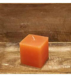 Rustična sveća kocka 7x7 cm Narandžasta - 1 kom