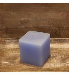 Rustična sveća kocka 7x7 cm Svetlo Plava - 1 kom