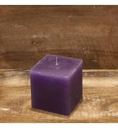 Rustična sveća kocka 7x7 cm Tamno Ljubičasta - 1 kom