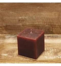 Rustična sveća kocka 7x7 cm Violet - 1 kom