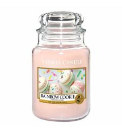 Mirisna sveća u tegli L - Rainbow Cookie (citrus, vanila, kokos,  marakuja i breskva)