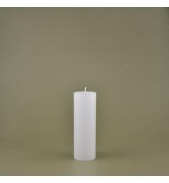 Skandinavska sveća valjak 5x15 cm Saten bela - 1 kom