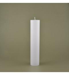 Skandinavska sveća valjak 5x25 cm Saten bela 1 kom