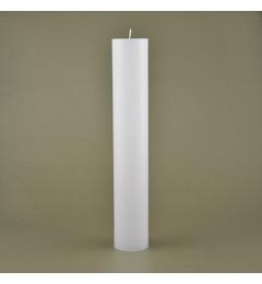 Skandinavska sveća valjak 5x30 cm Saten bela - 1 kom