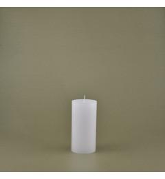 Skandinavska sveća valjak 6x12 cm Saten bela - 1 kom