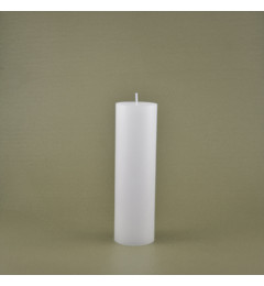 Skandinavska sveća valjak 6x20 cm Saten bela - 1 kom