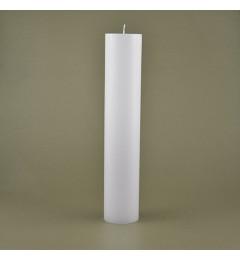 Skandinavska sveća valjak 6x30 cm Saten bela - 1 kom
