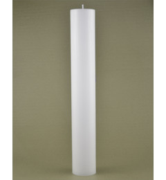 Skandinavska sveća valjak 6x40 cm Saten bela - 1 kom
