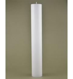 Skandinavska sveća valjak 6x80 cm Saten bela - 1 kom