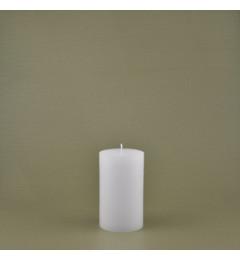 Skandinavska sveća valjak 7x12 cm Saten bela - 1 kom