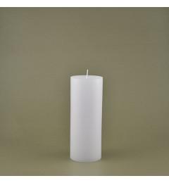 Skandinavska sveća valjak 7x18 cm Saten bela - 1 kom