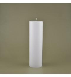 Skandinavska sveća valjak 7x24 cm Saten bela - 1 kom
