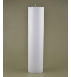 Skandinavska sveća valjak 7x34 cm Saten bela 1 kom