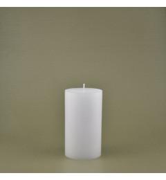 Skandinavska sveća valjak 8,5x15 cm Saten bela - 1 kom