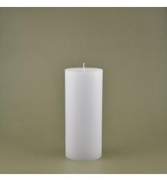 Skandinavska sveća valjak 8,5x20 cm Saten bela - 1 kom