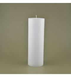 Skandinavska sveća valjak 8,5x25 cm Saten bela - 1 kom