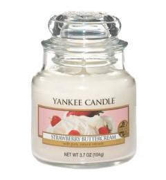 Mirisna sveća u tegli S - Strawberry Buttercream (jagoda)