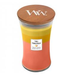 Wood Wick Mirisna sveća u tegli L - Tropical Sunrise (ananas, mango, grožđe, šljiva, nektarine)