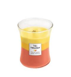 Wood Wick Mirisna sveća u tegli M - Tropical Sunrise (ananas, mango, grožđe, šljiva, nektarine)