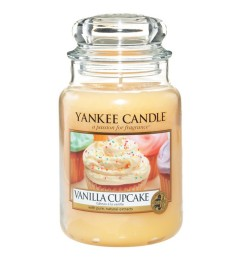 Mirisna sveća u tegli L - Vanilla Cupcake (vanila, miris kolača)