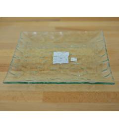 Staklena tacna, podmetač za sveću Thabo 25x25 cm