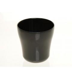 Staklena saksija 13 x 13 cm - crna