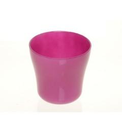 Staklena saksija 13 x 13 cm - pink