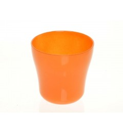 Staklena saksija 13 x 13 cm - narandžasta