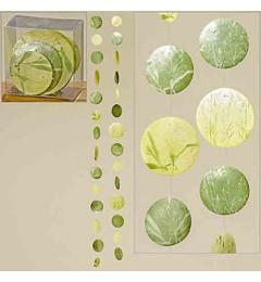Viseća dekoracija od sedefa L120 cm - zelena