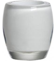 Beli svećnjak za votivnu sveću