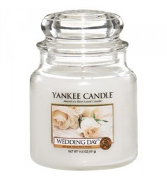 Mirisna sveća u tegli M - Wedding Day (mimoza, jazmin, ruža, citrusi, vanila)