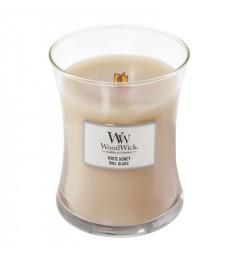 WoodWick Mirisna sveća u tegli M - White Honey (narandžin cvet i vanila)