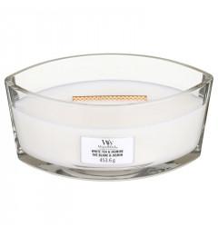 Mirisna sveća u ovalnoj tegli - White Tea & Jasmin (bergamot, ruža, ljubičica, jasmin, mošus)