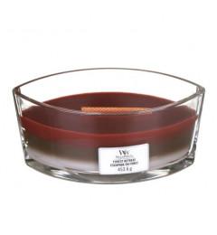Wood Wick Trilogy Mirisna sveća u ovalnoj tegli - Forest Retreat (sekvoja, sandalovina, jantar, mošus)