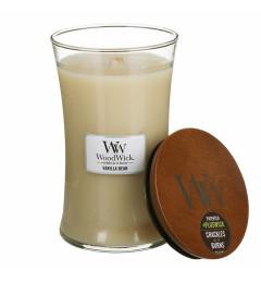 Wood Wick Mirisna sveća u tegli L - Vanilla Bean (vanila)