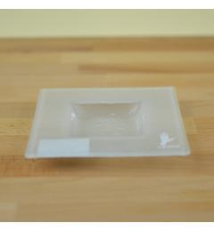 Stakleni podmetač za sveće Y13x13 cm - beli