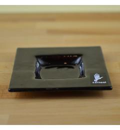 Stakleni podmetač za sveće Y13x13 cm - violet